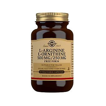 Solgar L-Arginine L-Ornithine 500mg 250mg Vegicaps 50 (160)