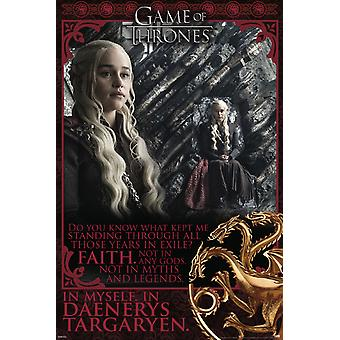 Poster - Studio B - Game of Throne- Faith in Myself 36x24