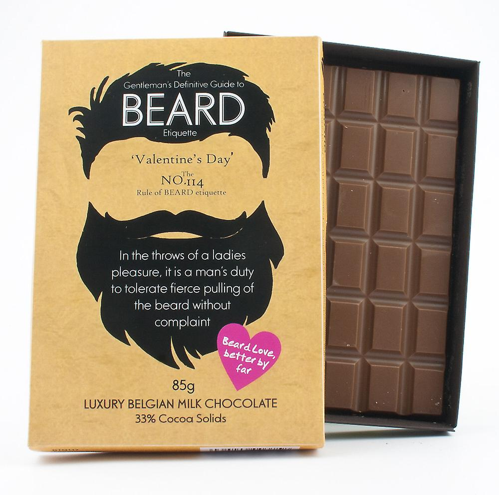 Funny Valentine's Day Gift for Bearded Men Beard Lover Present Chocolate Greeting Card BTQ117