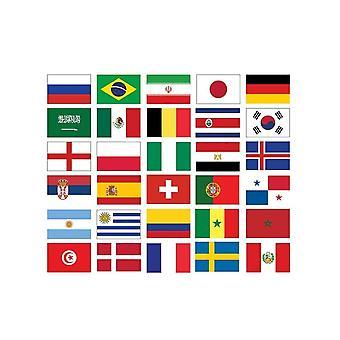 32 kansakuntia Jalkapallo World Cup 2018 lippu Pack (5 jalkaa x 3 ft)