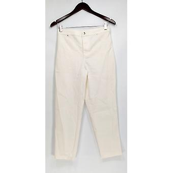 Joan Rivers Classics Collection Petite Jeans 6 Zipper Button Front White A303073