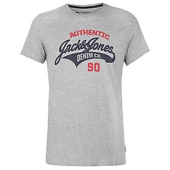 Jack and Jones Mens Core Heritage Logo T Shirt Crew Neck T-Shirt Tee Top