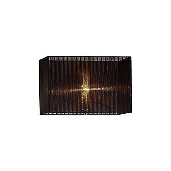 Diyas Florence Rectangle Organza Shade,  400x210x260mm, Black, For Floor Lamp