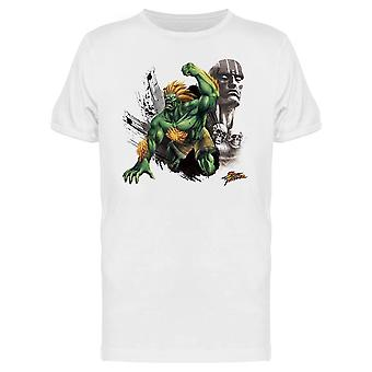 Street Fighter Blanka Dhalsim tee Men ' s-Capcom designs
