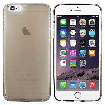 iPhone 6 Plus Silikonfodral Transparent Svart - CoolSkin3T