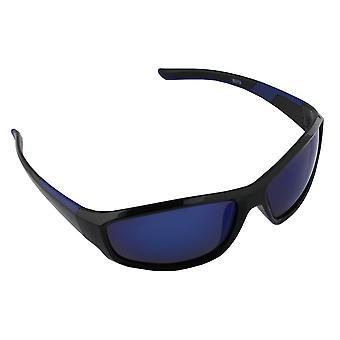 Sunglasses UV 400 Sport rectangle polarizing Glass Blue blue S373_7 FREE BrillenkokerS373_7
