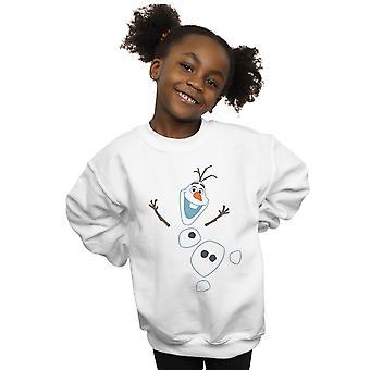 Disney Girls Frozen Olaf Deconstructed Sweatshirt