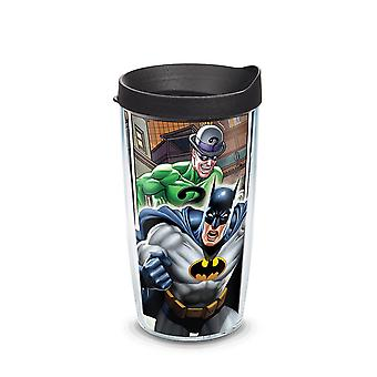 Batman tegneserier wrap vannglass med lokk 16 oz Tervis®