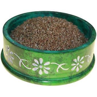 Sandelträ olja brännare sjudande granulat Extra stor burk