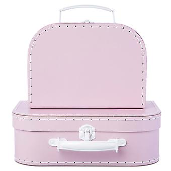 Sass & Belle Set Of 2 Pastel Pink Suitcases