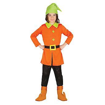Boys Childrens Dwarf Gnome Fancy Dress Costume