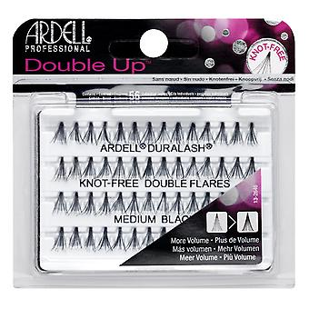 Ardell double up individuele knoop-gratis dubbele fakkels medium zwart