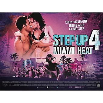 STEP UP 4: MIAMI HEAT Poster double sided (Quad) (2012) ORIGINAL CINEMA POSTER