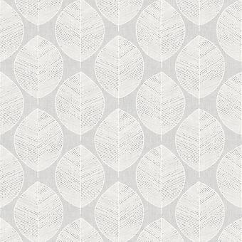 Scandi Liść Tapety Arthouse