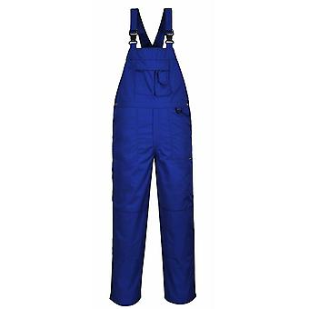 Portwest negen Pocket slabbetje en brace werk overalls Royal Blue