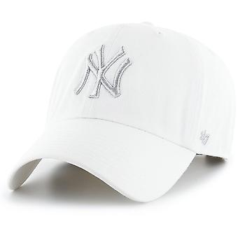 47 火災リラックス フィット キャップ - クリーンアップ ニューヨーク ヤンキース ホワイト