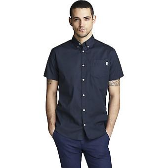 Jack & Jones Jones korte mouw shirt Eclipse Navy 76