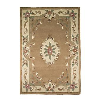 Lotus Premium Aubusson Rug - Rectangular - Fawn