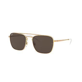 راي بان RB3588 901373 المطاط الذهب / النظارات الشمسية البني