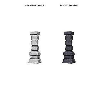 Pijlers ongeverfd miniaturen w3 (pak van 6)