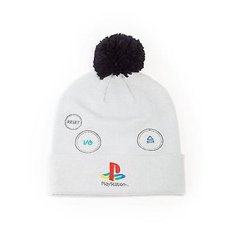 Logo Sony Playstation Bobble Beanie Unisex Grey/Black (KC627138SNY)