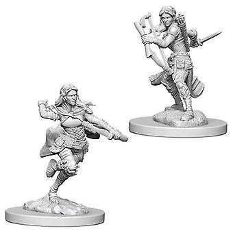 D&D Nolzur's Marvelous Unpainted Miniatures Air Genasi Female Rogue (Pack of 6)