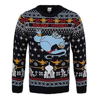 Unisex Aladdin Genie Holiday Wishes Knitted Christmas Jumper