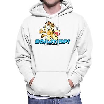 Garfield And Odie On A Roadtrip Men's Hooded Sweatshirt