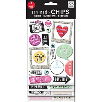 Me & My Big Ideas Chipboard Value Pack-Insta Love, 52/Pkg
