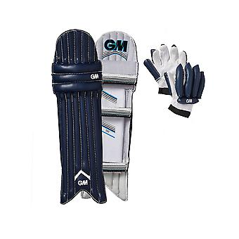 Gunn & Moore 2018 101 Kinder Mini Cricket Batting Handschuh & Bein Pads Set