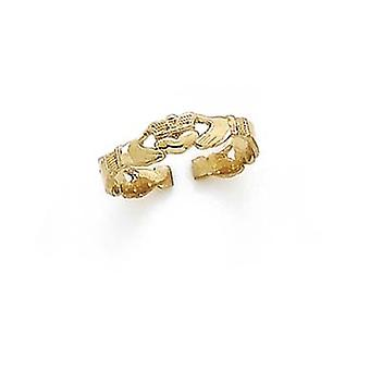 14k Yellow Gold Claddagh Toe Ring Jewelry Gifts for Women - 1.4 Grams