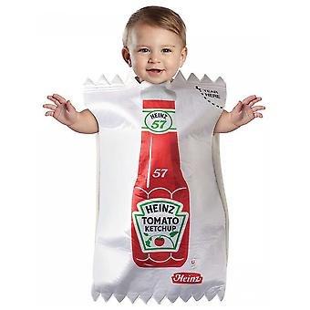 Heinz Ketchup Packet Tomato Sauce Food Infant Baby Bunting Boys Girls Costume