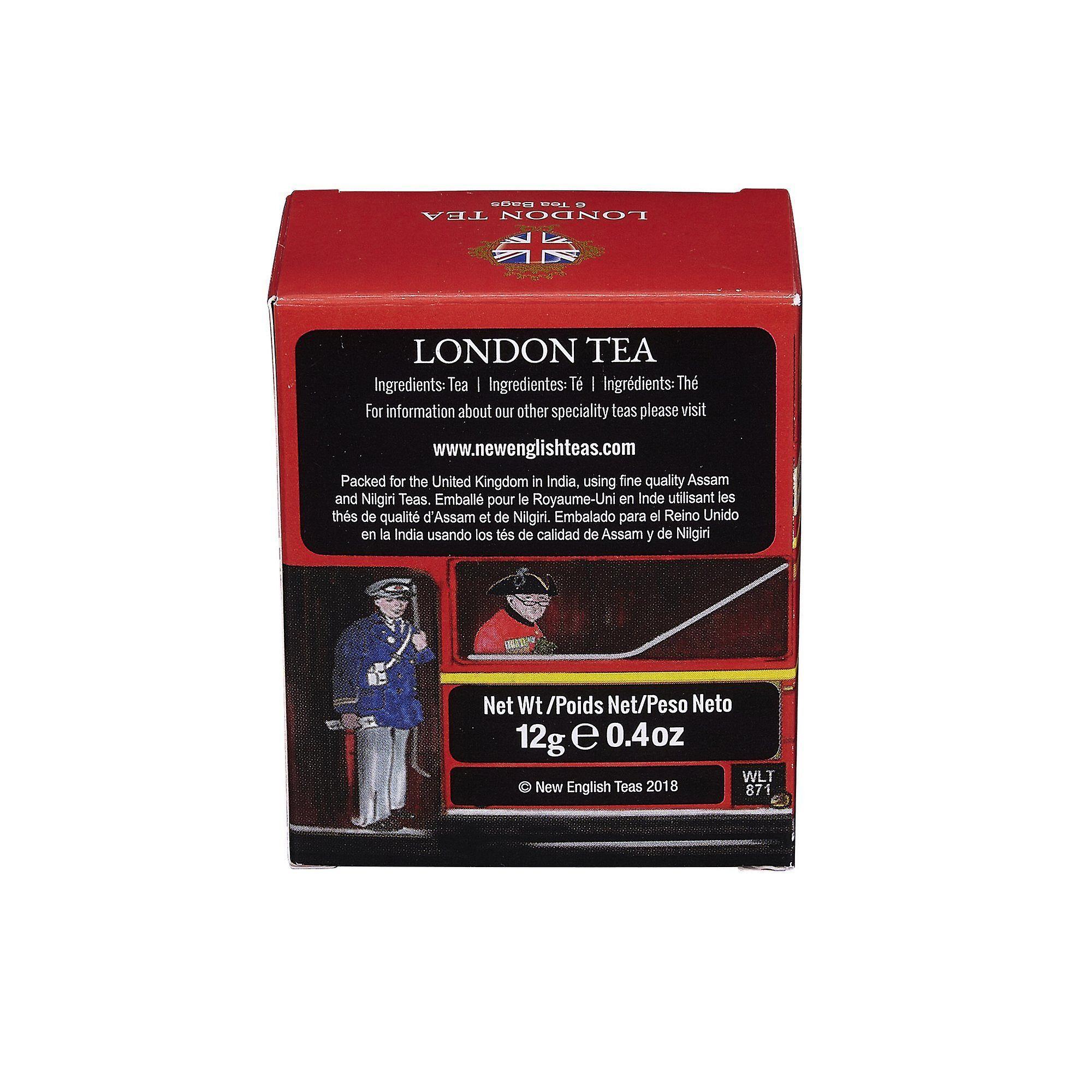 Red london bus london tea 6 teabag carton