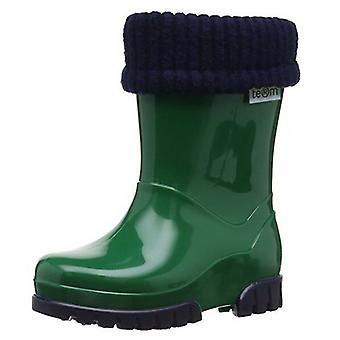 Toughees Term Removable Fleece Lined Green Wellingtons