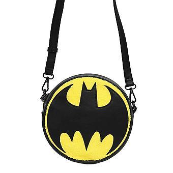 Batman Crossbody Bag Classic Signal Logo Chenille Canteen new Official Loungefly