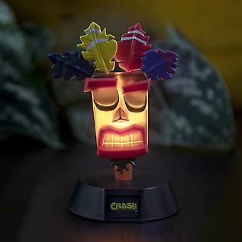 Crash Bandicoot lamp Aku Aku black, made of plastic, comes in gift box, incl. USB cable.