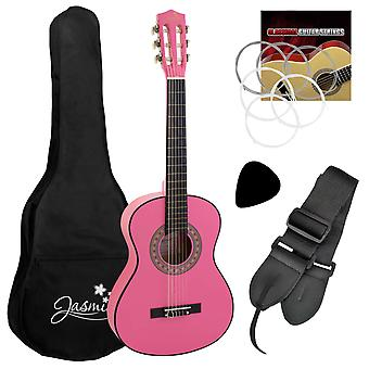 Tiger 3/4 Size Childrens Classical Guitar Pack with Gig Bag, Strap &