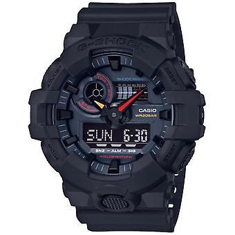Montre Casio GA-700BMC-1AER - G-Shock Neo Tokyo Color Multifonctions Bracelet R�sine Noir Bo�tier R�sine