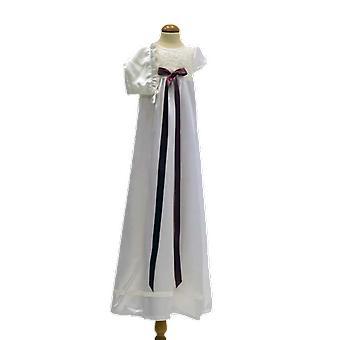 Dopklänning Och Dophätta I Off White, Lila-rosa Rosett. Grace Of Sweden