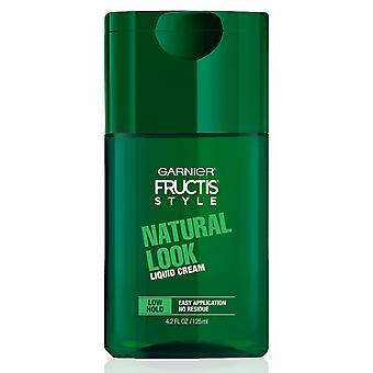 Garnier Fructis Style Natural Look Liquid Hair Cream, Low Hold, 125 ml