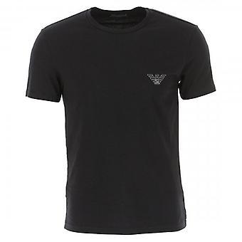 Emporio Armani Logo Stretch Underwear T-Shirt Black 110853 9A524