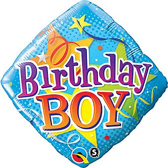 Qualatex 18 Inch Diamond Birthday Boy Foil Balloon