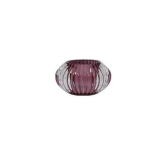 Light & Living Tealight 11x6.5cm - Pertu Clear Glass And Purple