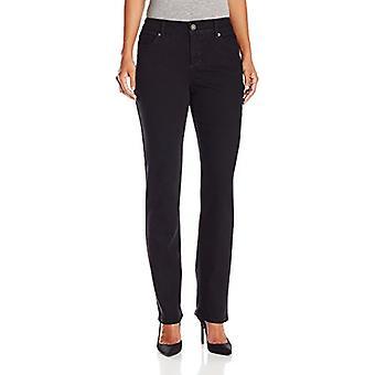 Bandolino Women's Petite Mandie 5 Pocket Jean,, Saturated Black, Size 14.0