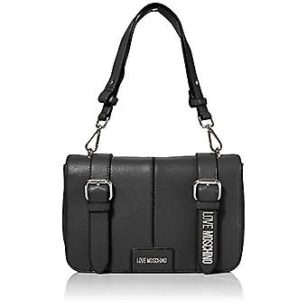Love Moschino Bag Pebble Grain Pu Black Women's Shoulder (Noir) 19x29x6 cm (W x H x L)