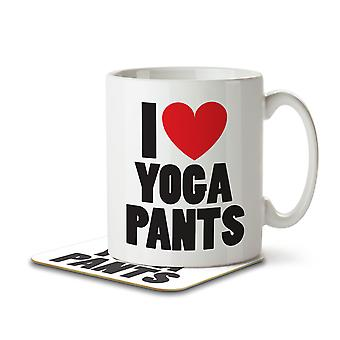 I Love Yoga Pants - Mug and Coaster