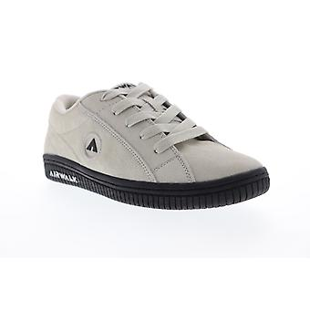 Airwalk Stark  Womens Gray Suede Lace Up Athletic Skate Shoes