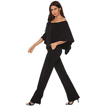 TYFengWomen Off Shoulder Ruffe High Waist Long Wide Leg Pants Sexy Jumpsuit R...