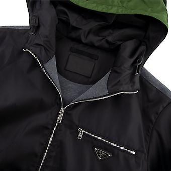 Prada Technique Cotton et Nylon Gabardine Jacket Noir