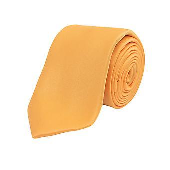 Dobell gutter oransje Tie Satin føle stoff bryllup slips